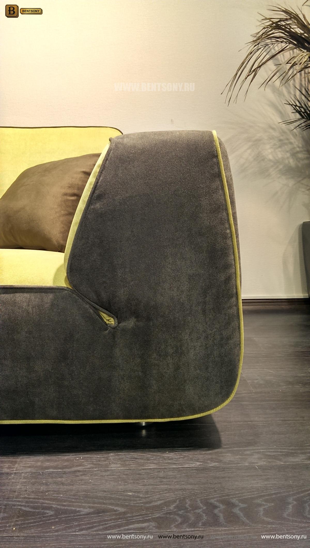 Диван Мобилини (Угловой с Пуфом, Велюр) каталог мебели