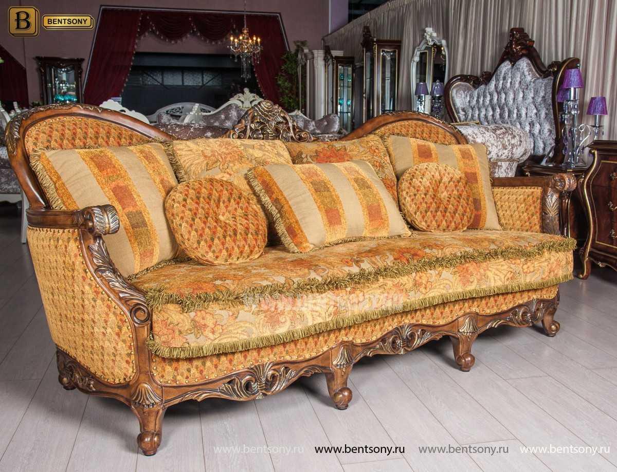 Прямой тканевый классический диван Рамирес