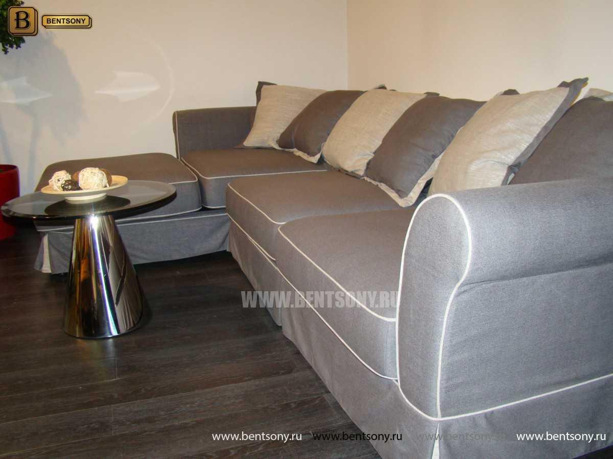 Серый угловой диван Белладжио