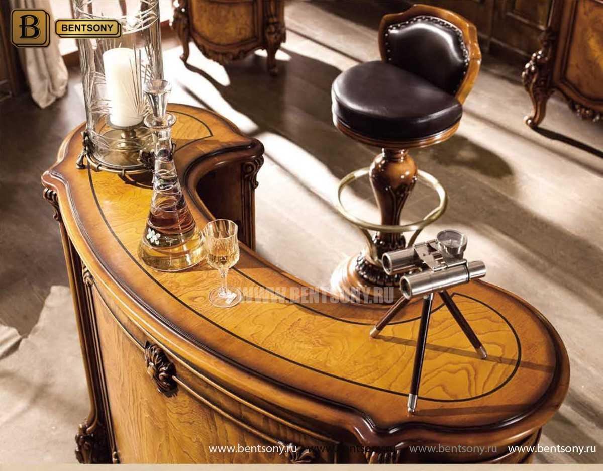 Барная стойка Дакота (Деревянная столешница) для дома