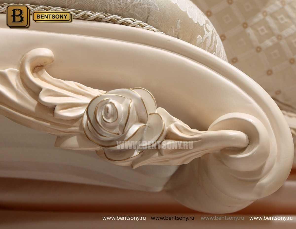 Кровать Амадео А (Классика, Белый цвет с патиной)