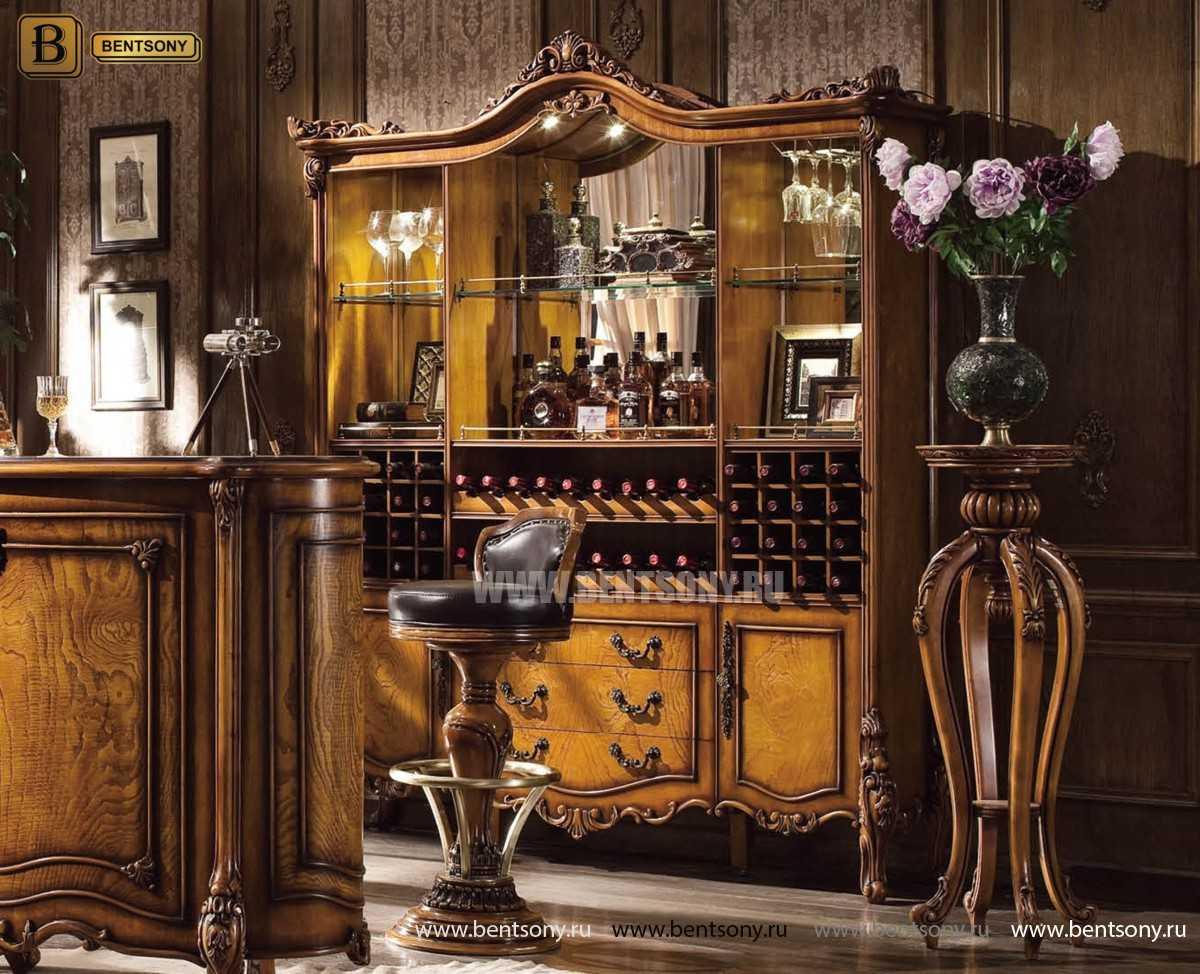 Буфет (Барный шкаф) Дакота (Классика, массив дерева) магазин