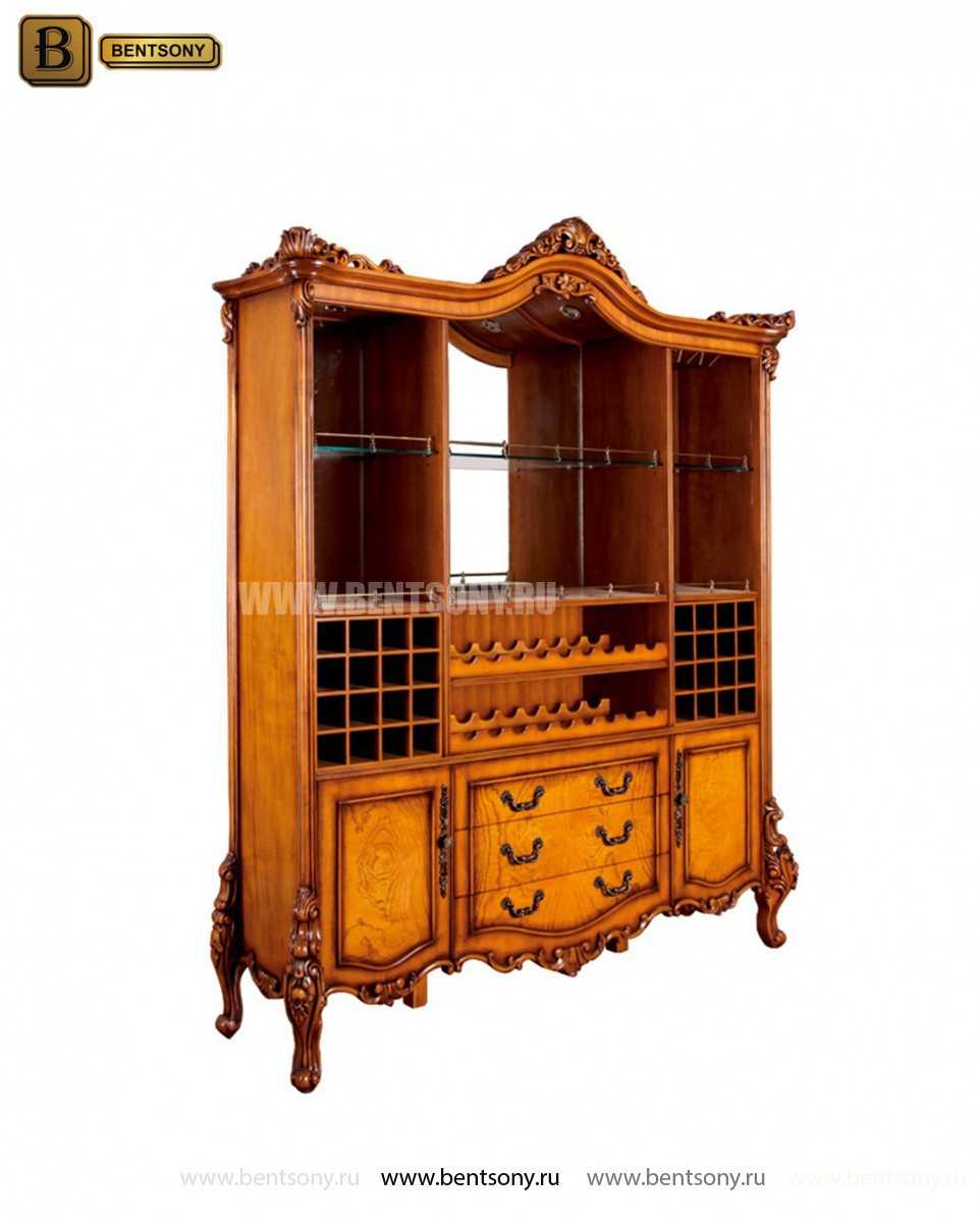 Буфет (Барный шкаф) Дакота (Классика, массив дерева) для квартиры