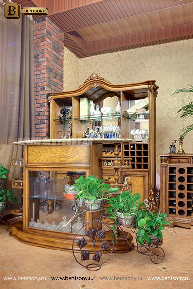 Буфет (Барный шкаф) Дакота (Классика, массив дерева) распродажа
