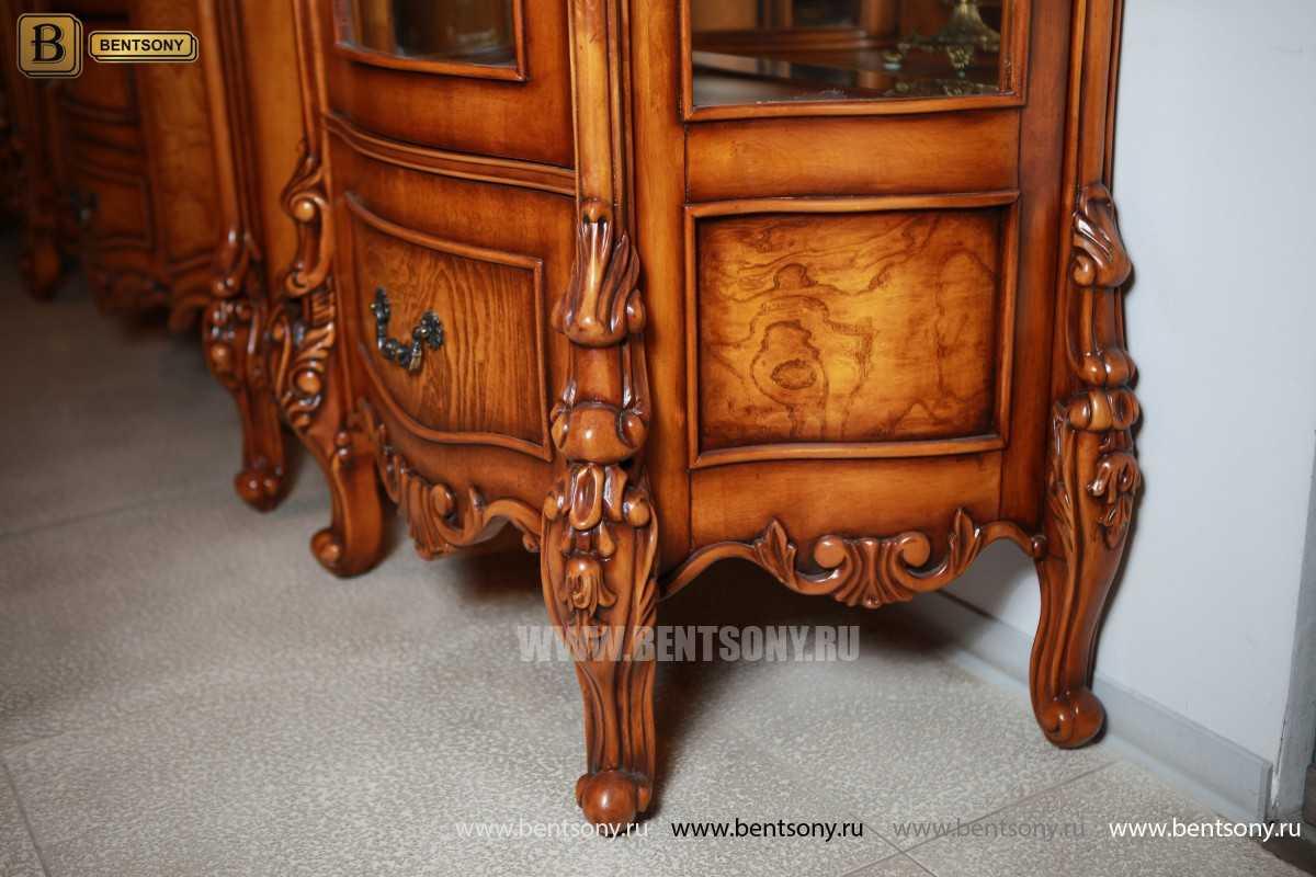 Витрина однодверная Дакота (Классика, массив дерева) каталог мебели