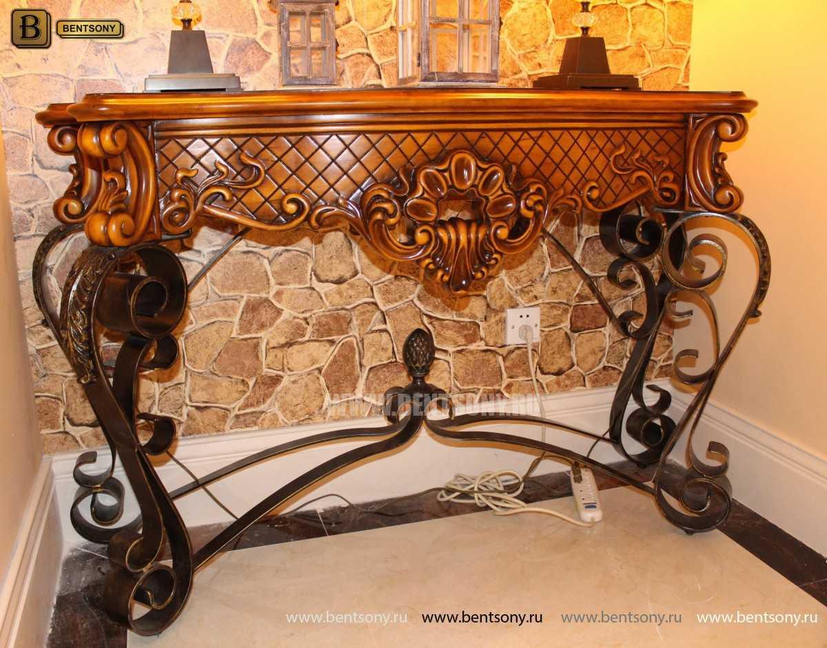 Консоль Дакота (Деревянная столешница)