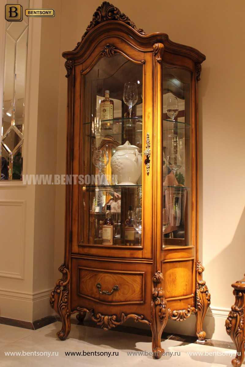 Стенка Дакота М18 (Классика, массив дерева) каталог мебели с ценами