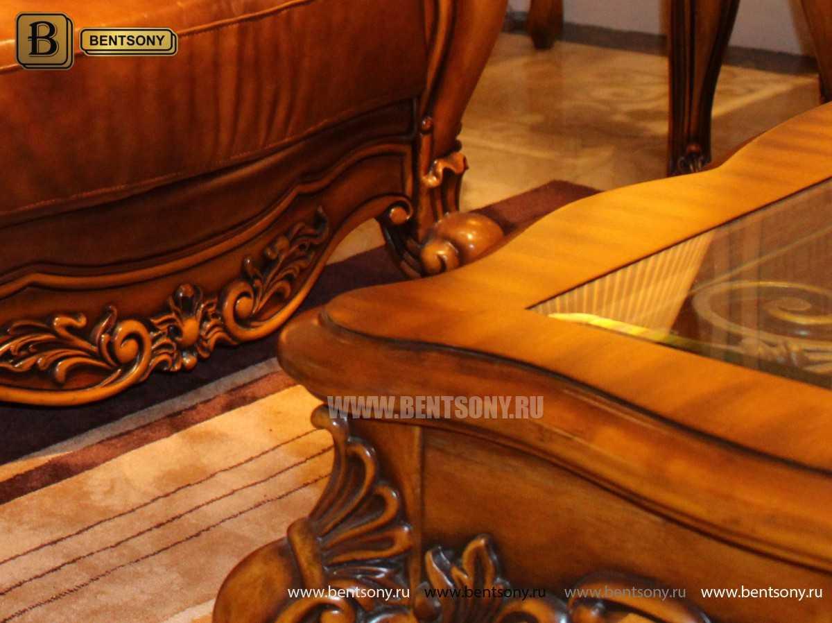 Стол Журнальный Квадратный Дакота А (Массив дерева, стекло)