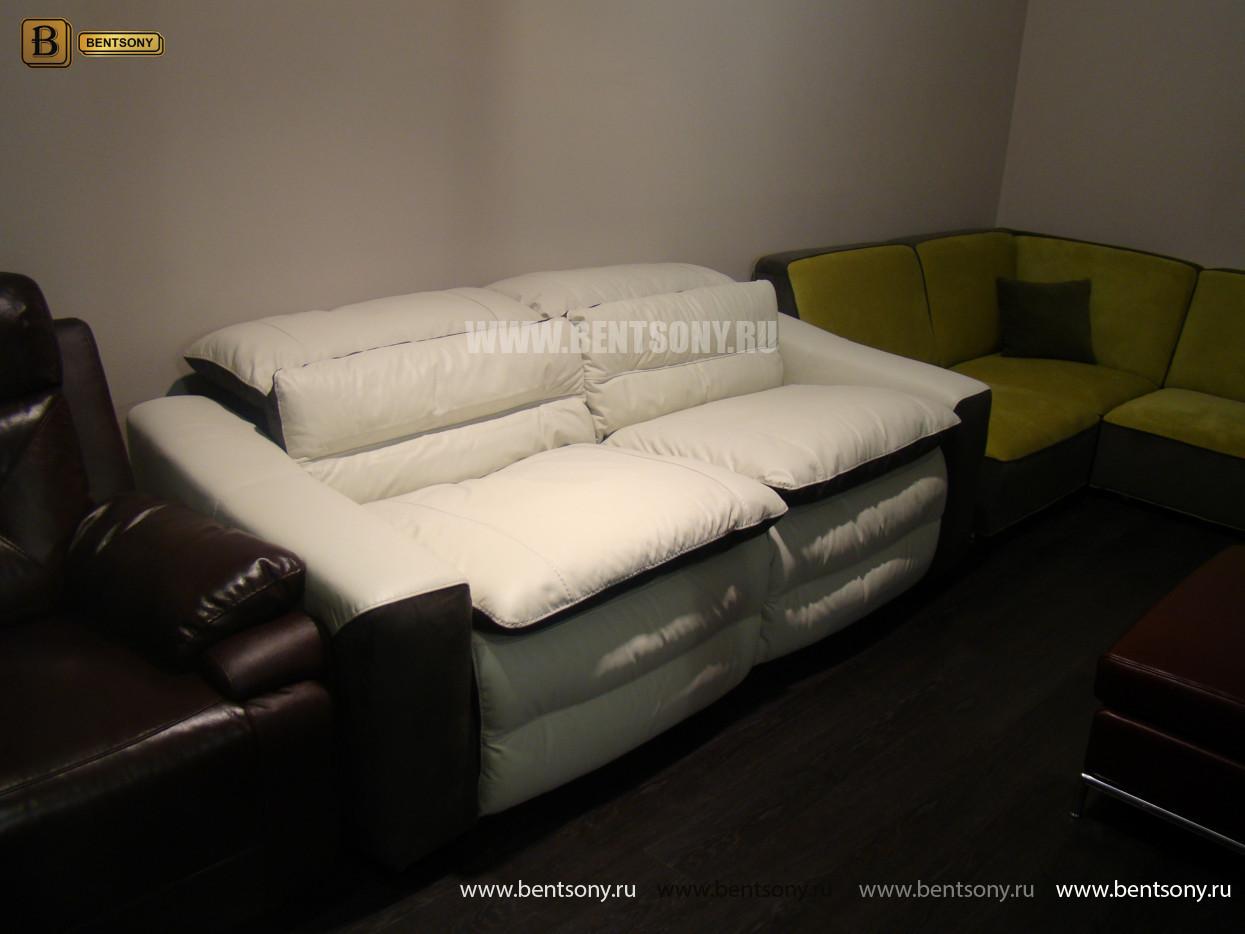 купить кожаный прямой диван