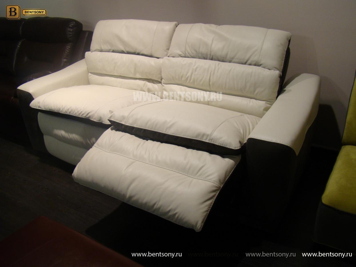 купить диван из натуральной кожи белый
