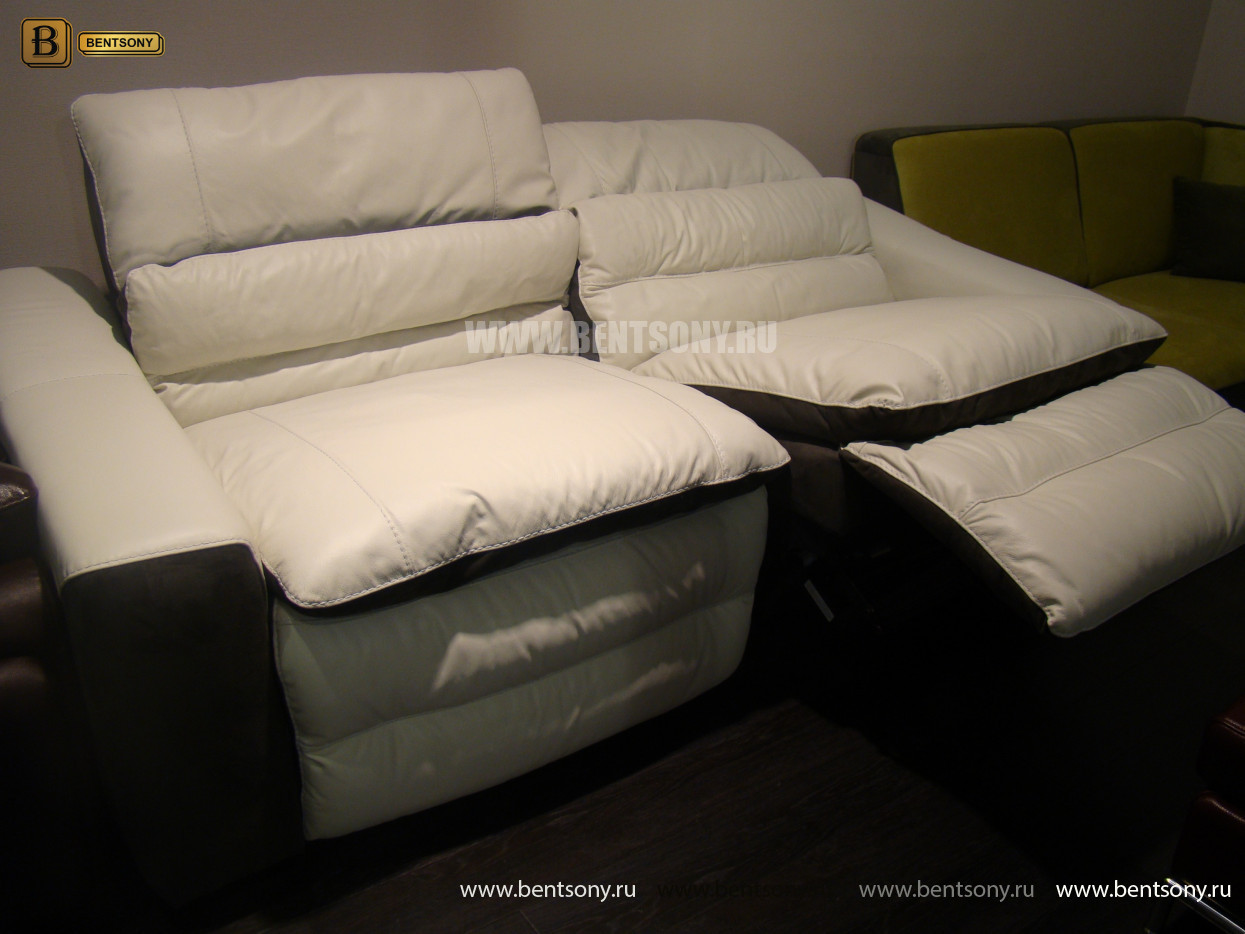 белый кожаный диван Урбано