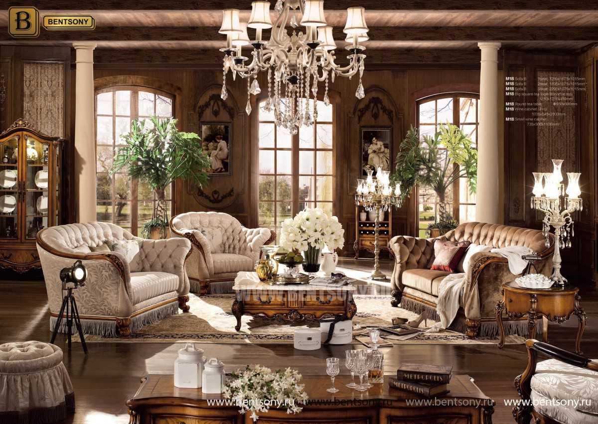 Диван Дакота B классический (Капитоне, массив дерева) каталог мебели
