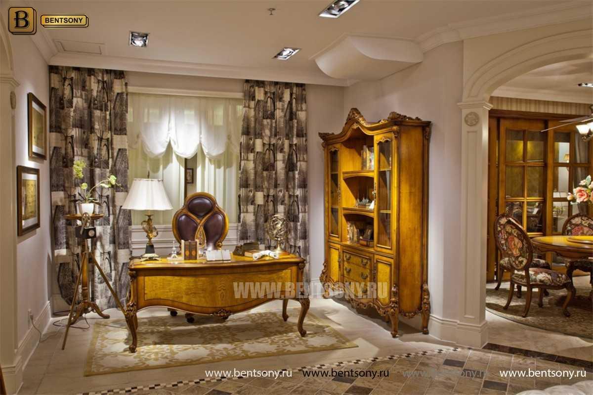 Письменный стол Дакота А (Массив дерева, резные ножки) купить в Москве