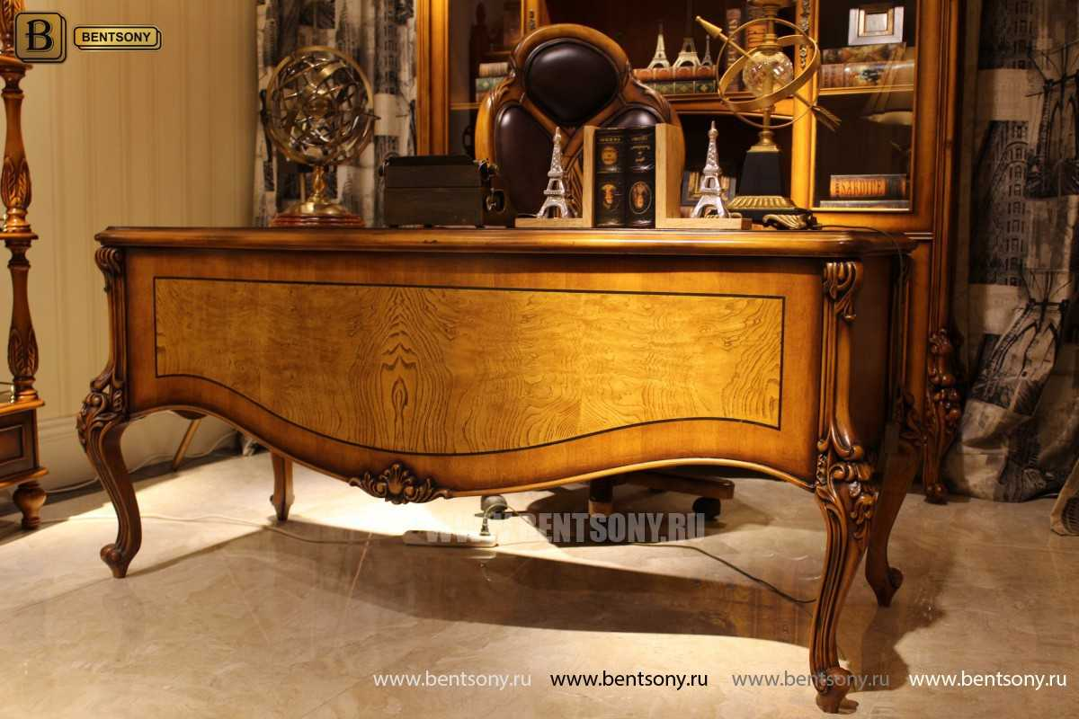 Письменный стол Дакота А (Массив дерева, резные ножки) официальный сайт цены