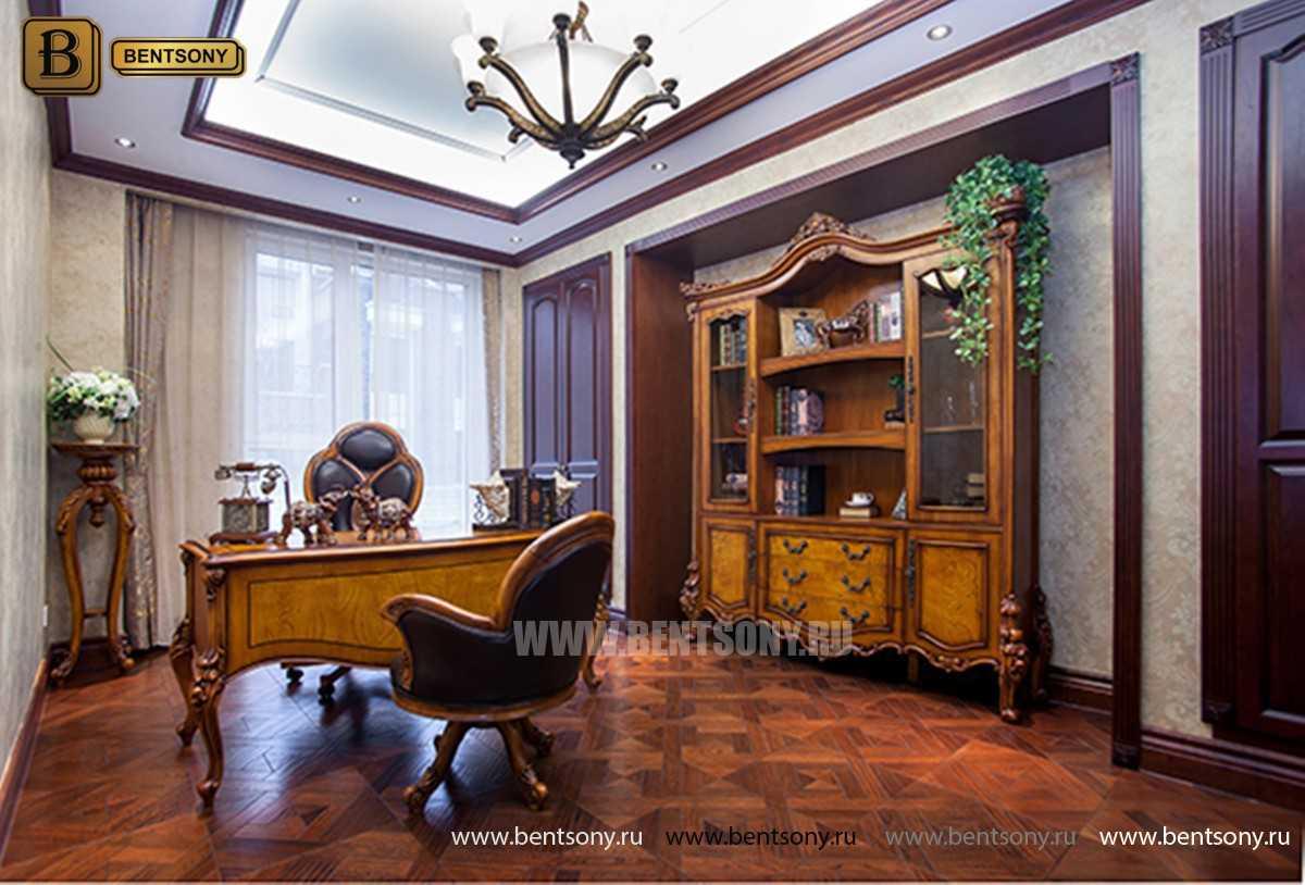 Письменный стол Дакота А (Массив дерева, резные ножки) каталог