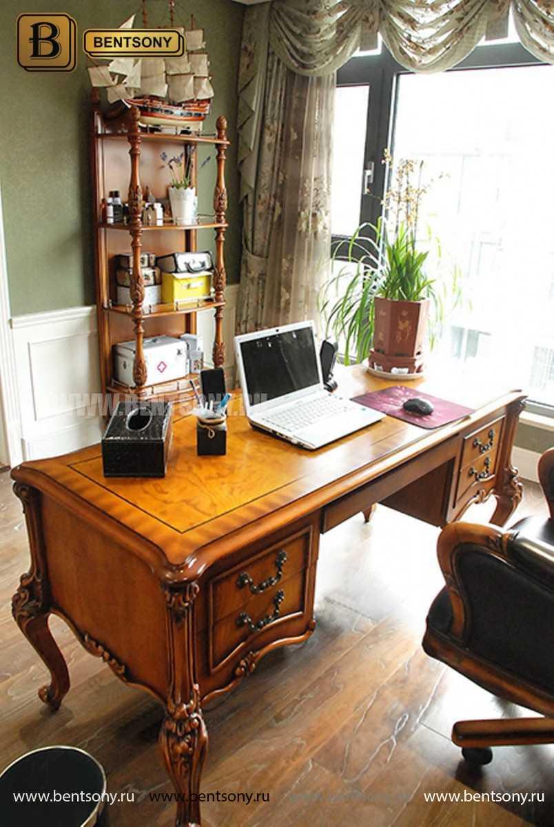 Письменный стол Дакота А (Массив дерева, резные ножки) для загородного дома