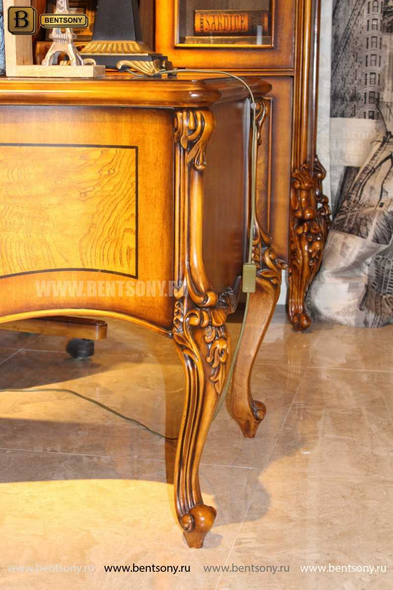 Письменный стол Дакота А (Массив дерева, резные ножки) для квартиры