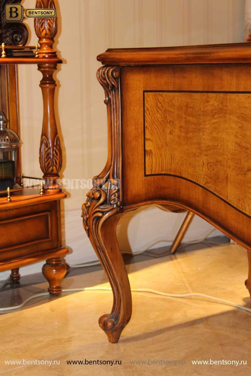 Письменный стол Дакота А (Массив дерева, резные ножки) цена