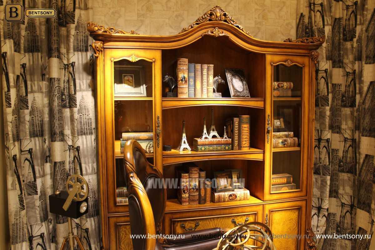 Шкаф Книжный Дакота (Классика, массив дерева) для квартиры