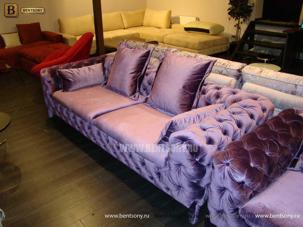 мягкий велюровый диван Скиллачи