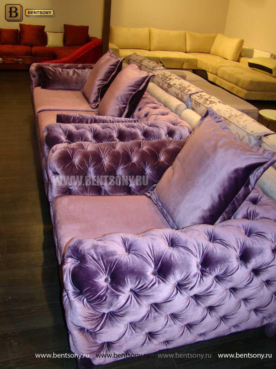 мягкий стильный диван капитоне Скиллачи