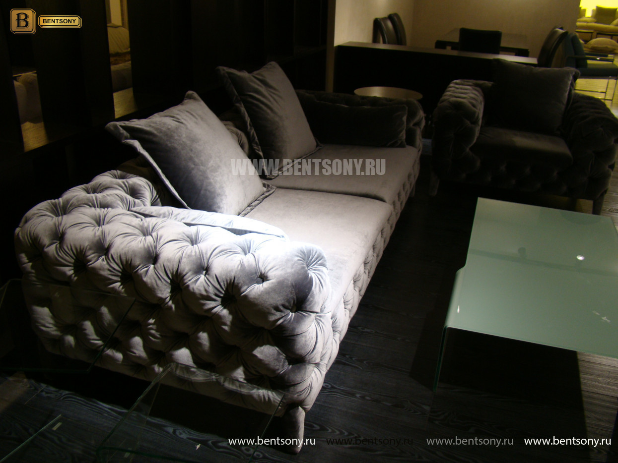 купить серый прямой диван Скиллачи