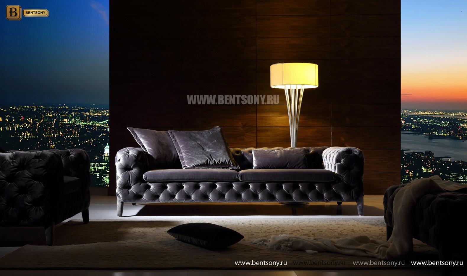 Серый прямой диван Скиллачи фото