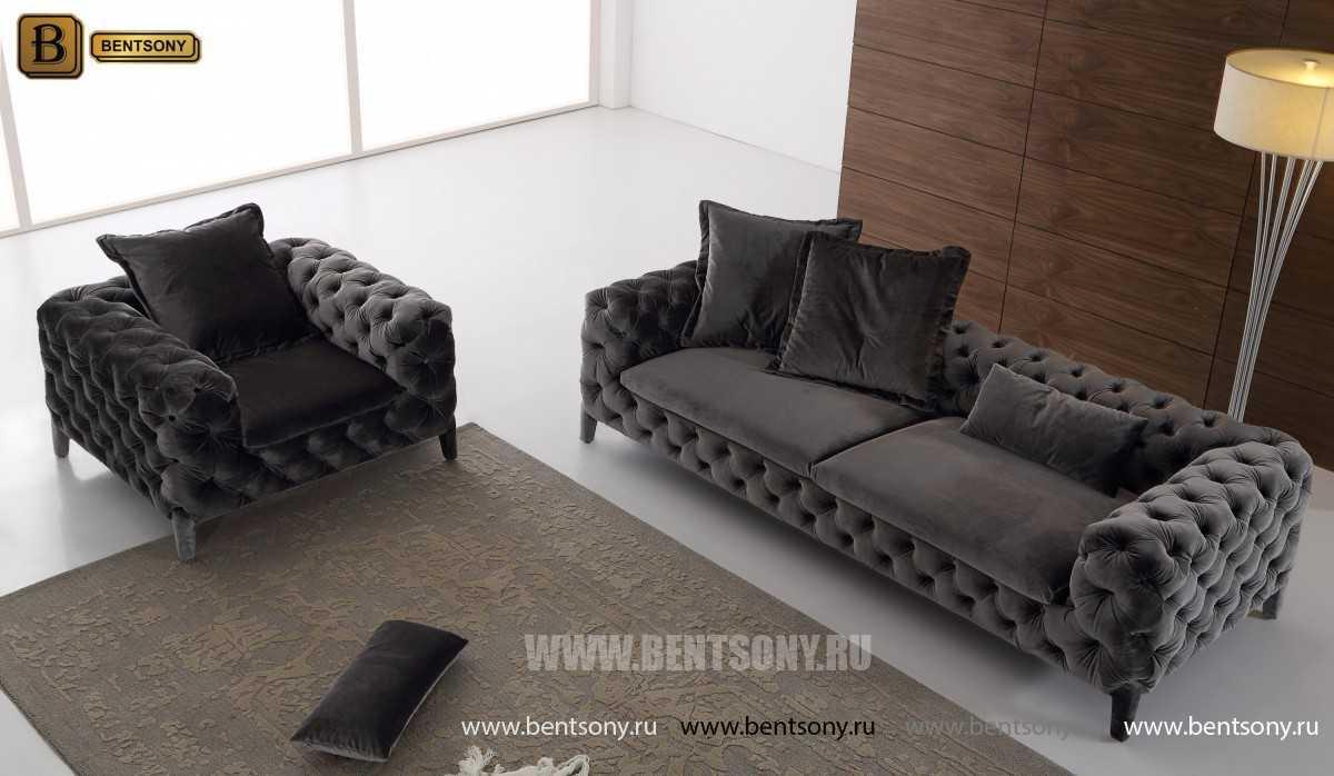 стильная серая мебель Скиллачи в интерьере