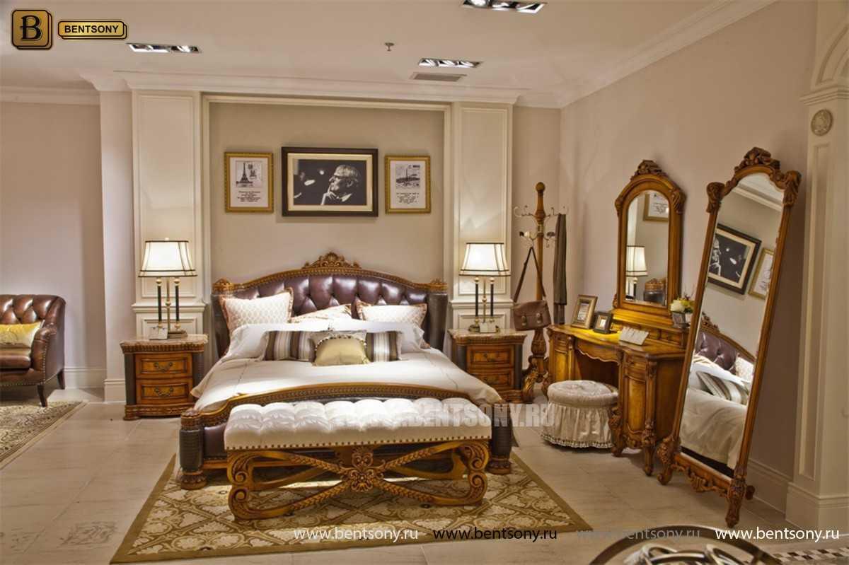 Кровать Дакота B (Классика, Натуральная Кожа)