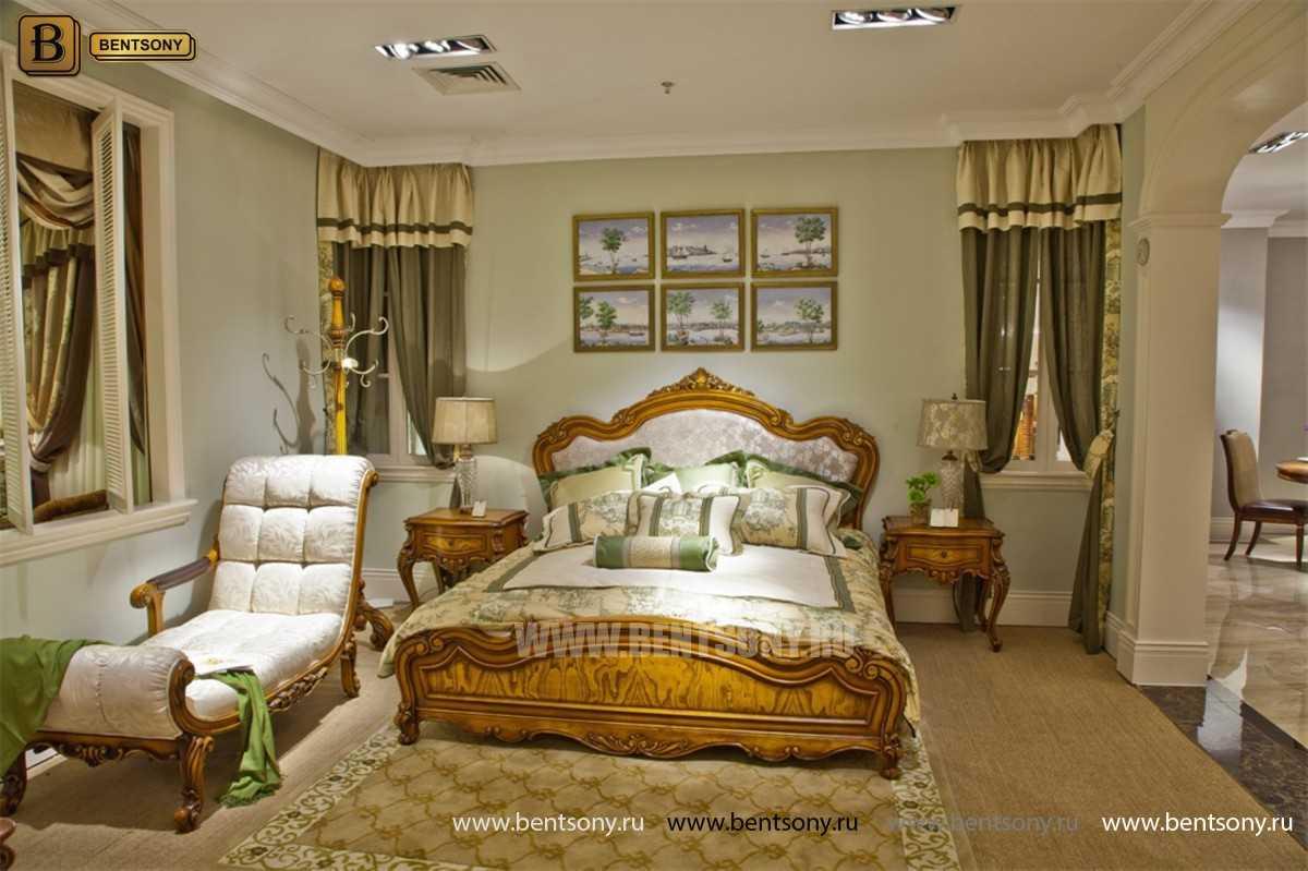 Кровать Дакота C (Классика, ткань, массив дерева)