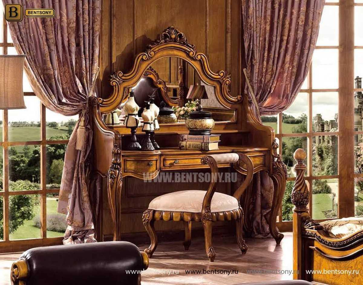 Стол туалетный Дакота с зеркалом (Классика, массив дерева) магазин Москва
