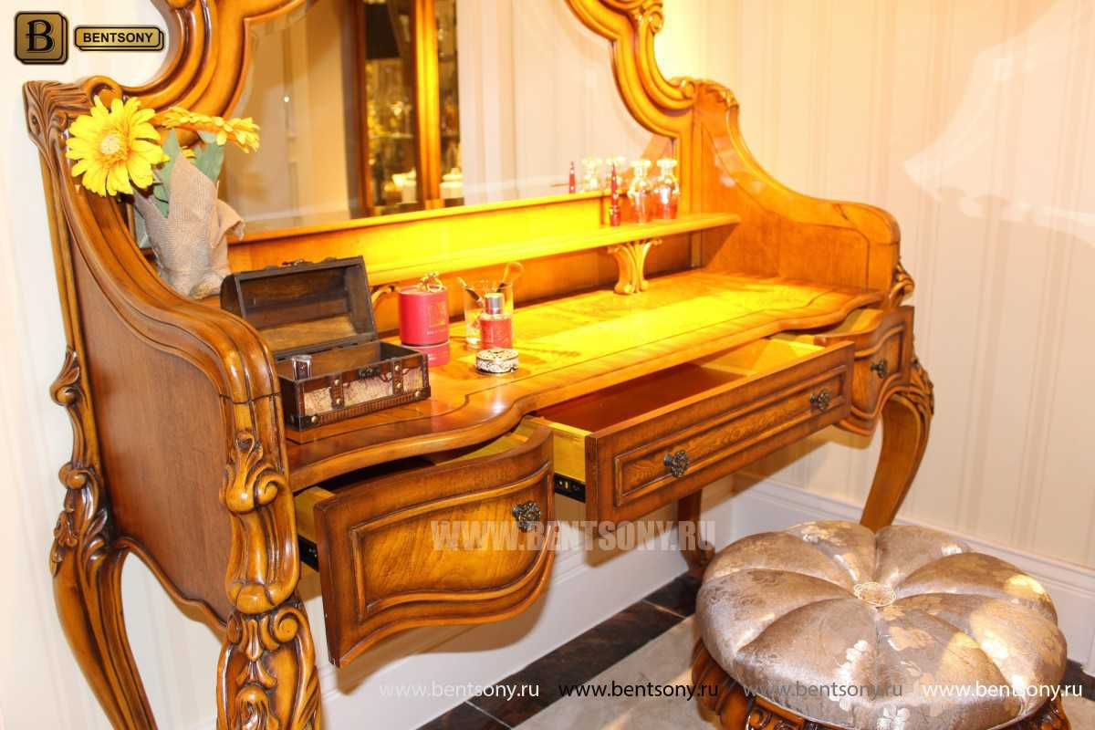Стол туалетный Дакота с зеркалом (Классика, массив дерева) каталог с ценами
