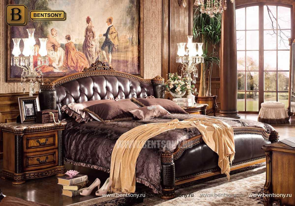 Спальня Дакота B (Классика, Натуральная Кожа)