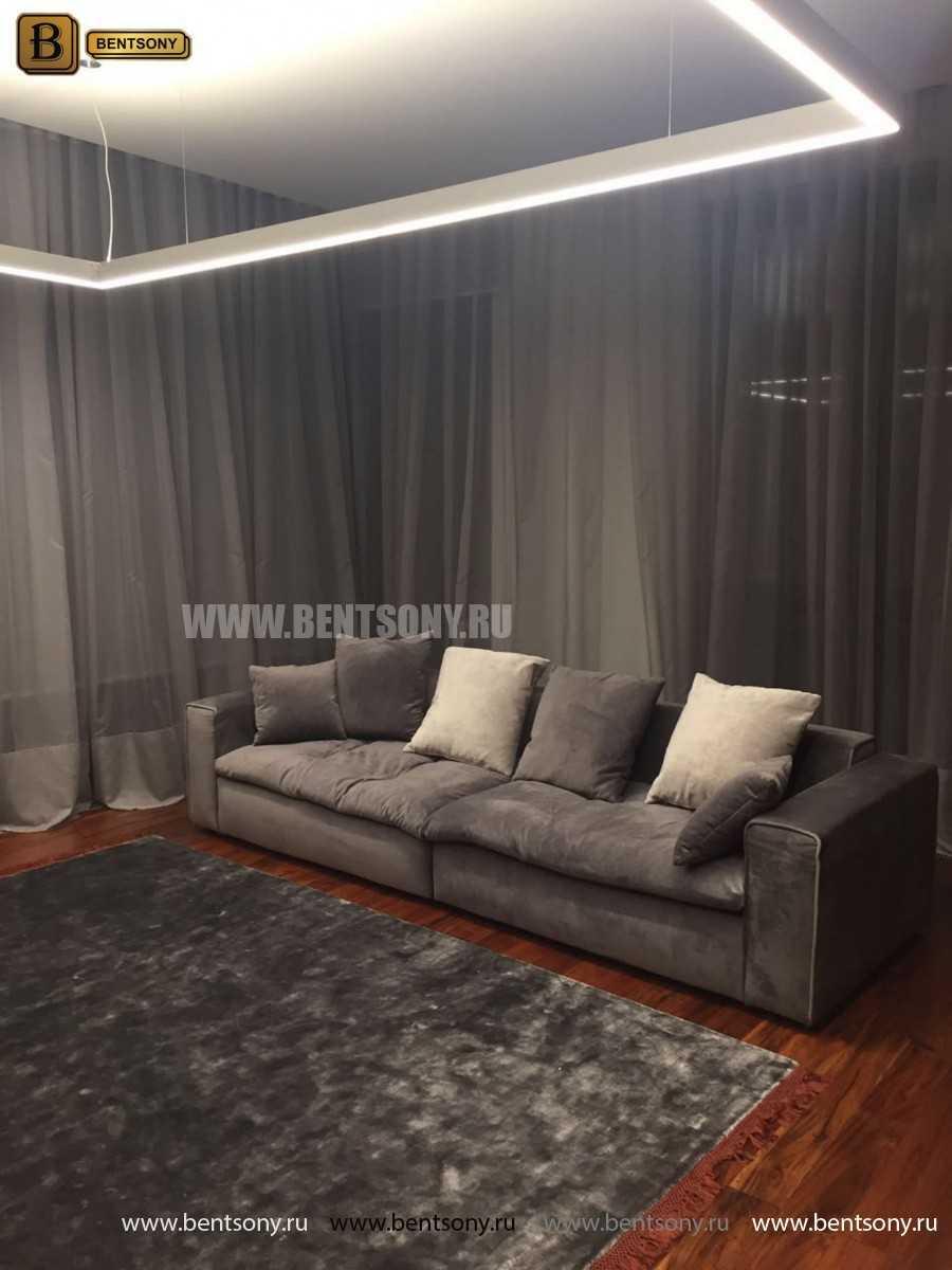Мягкий прямой диван Бениамино в интерьере