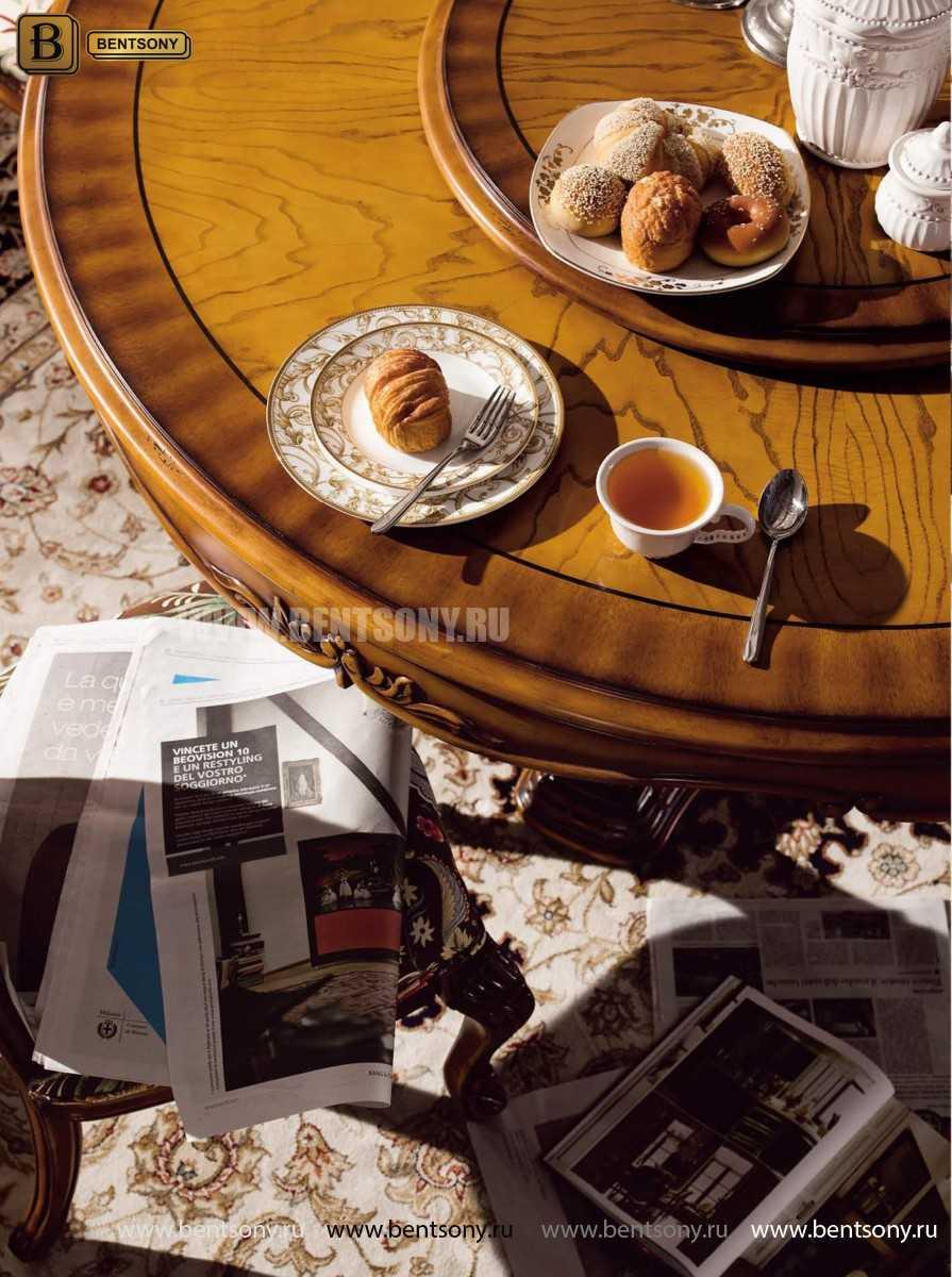 Обеденный стол Дакота А (Круглый, массив дерева) фото