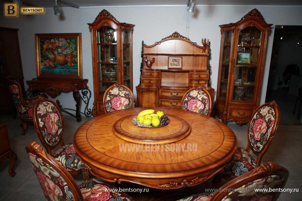 Обеденный стол Дакота А (Круглый, массив дерева) изображение