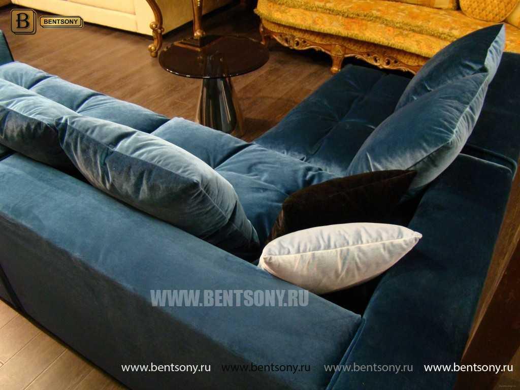 Синий цвет диванов Бениамино