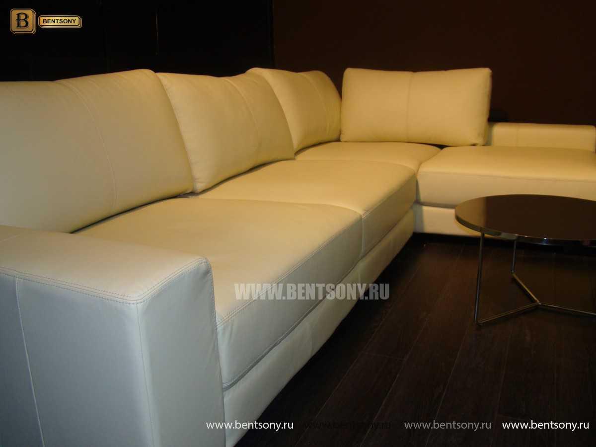 белый угловой диван Луиджи