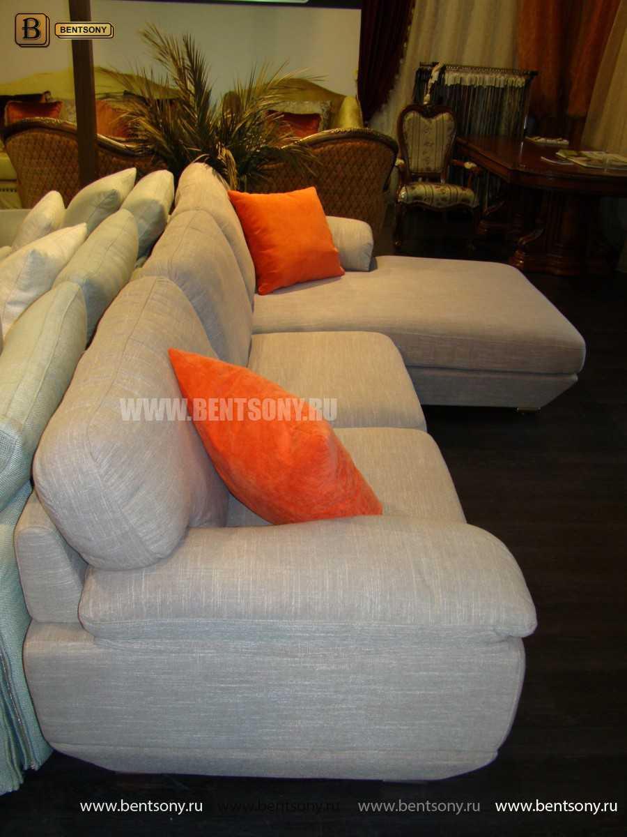 оранжевые подушки диван Спалетти
