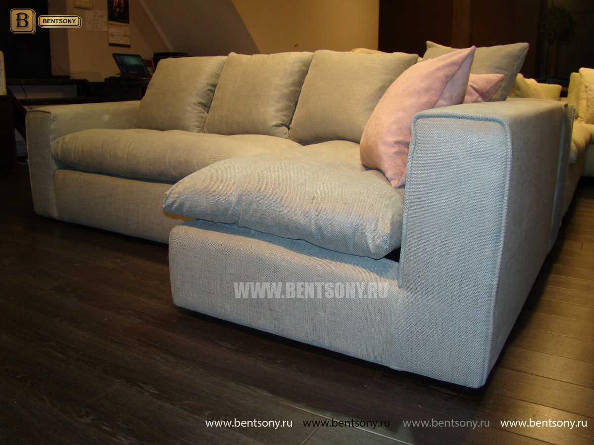 Угловой тканевый диван Бениамино