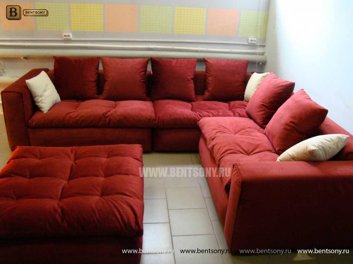 Угловой диван с Пуфом Бениамино