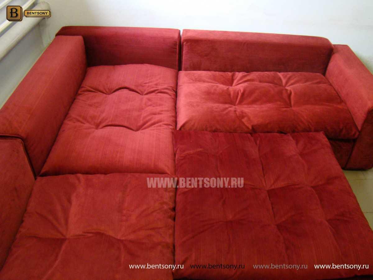 Красный диван Бениамино спальное место