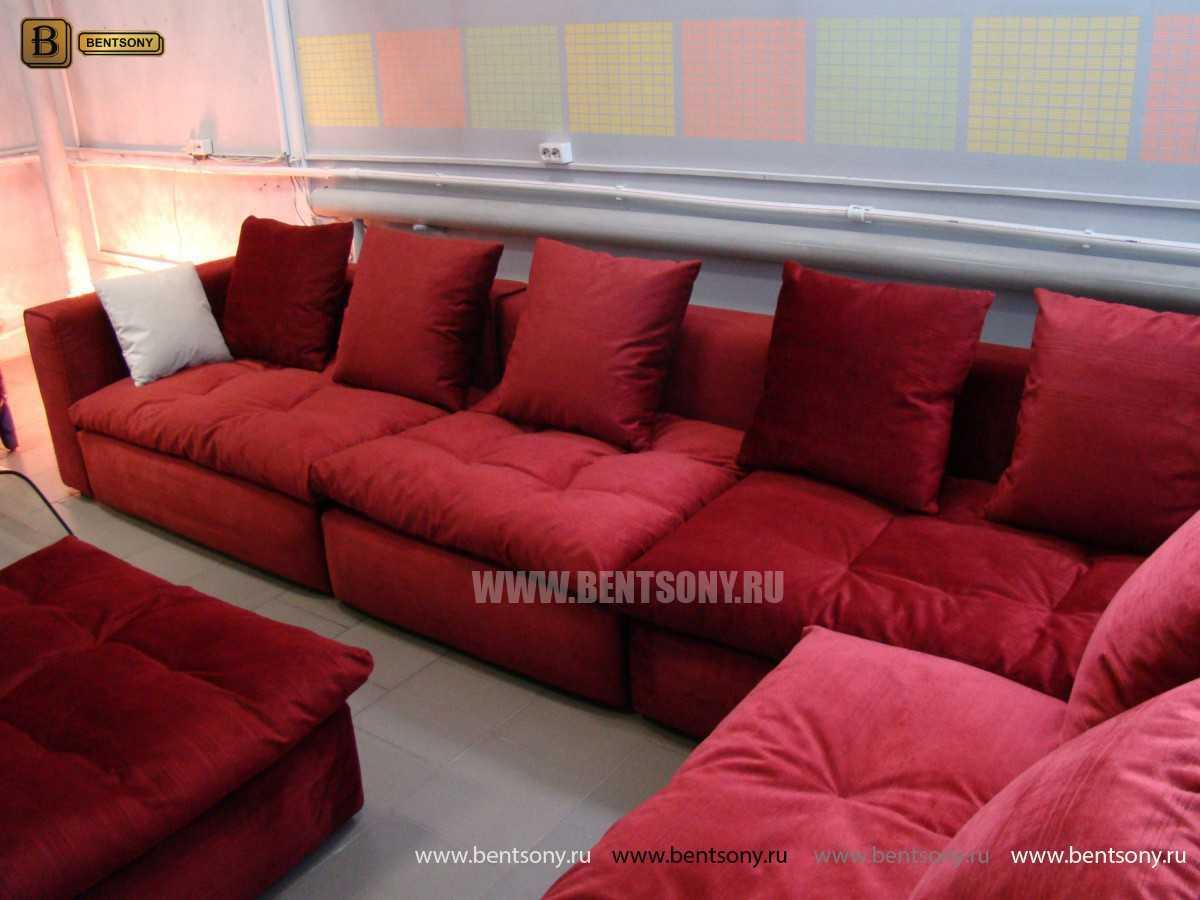 Спальный диван Бениамино красный