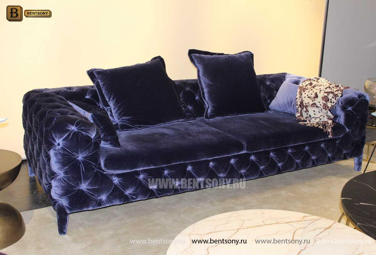 синий прямой диван Скиллачи