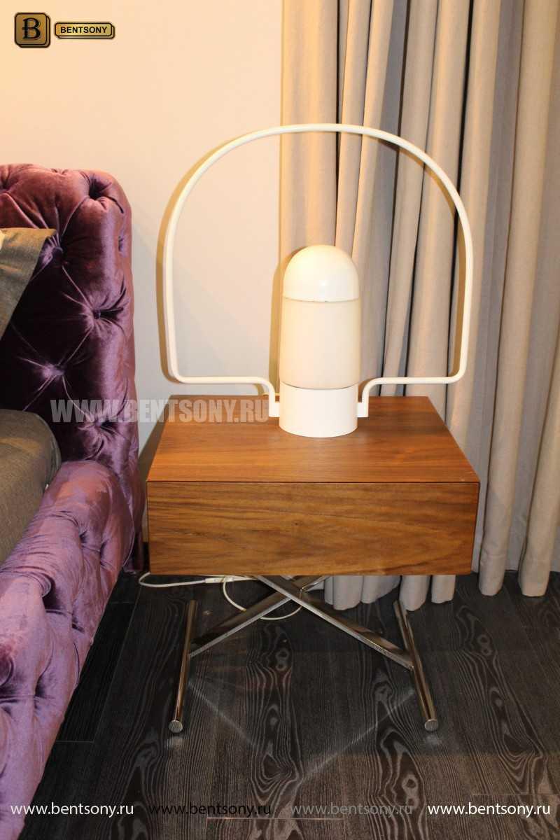 Кровать Скиллачи (Капитоне, велюр) официальный сайт цены