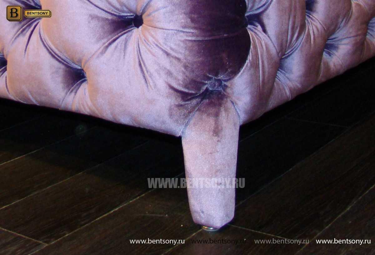 обивка пуфа фиолетовый велюр