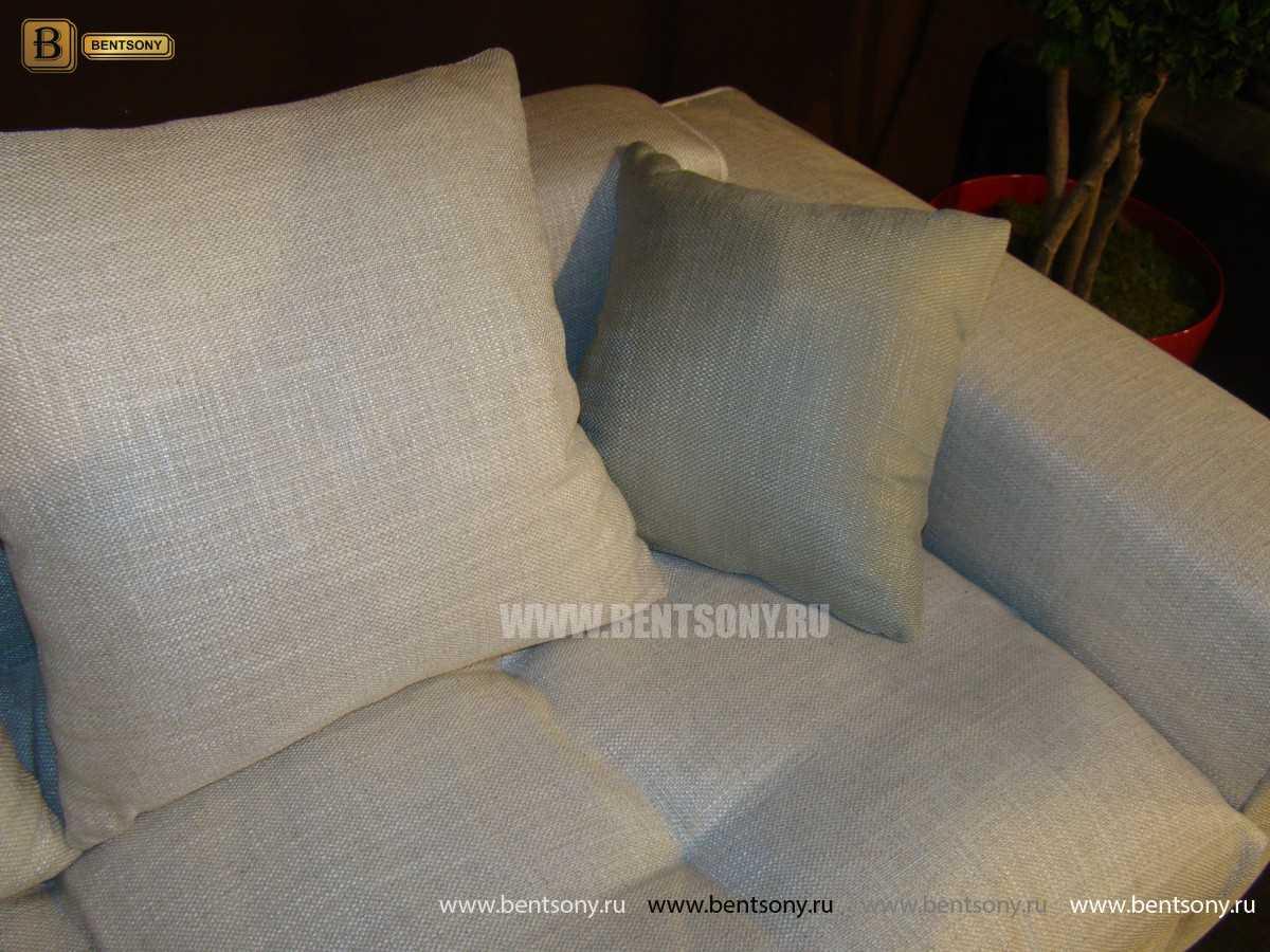 Обивка дивана Бениамино белая и бежевая рогожка