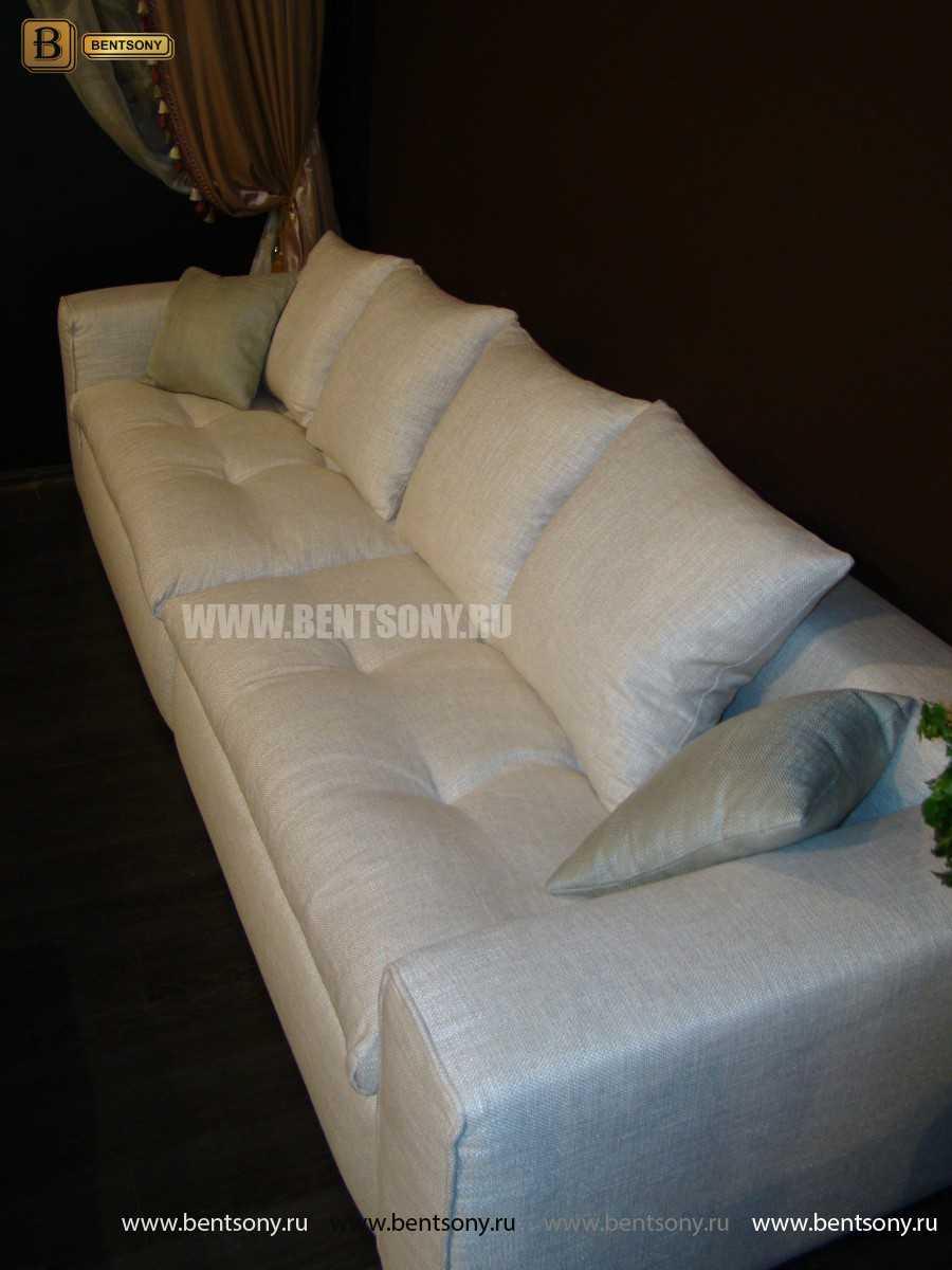 Мягкие диваны Бениамино с подушками