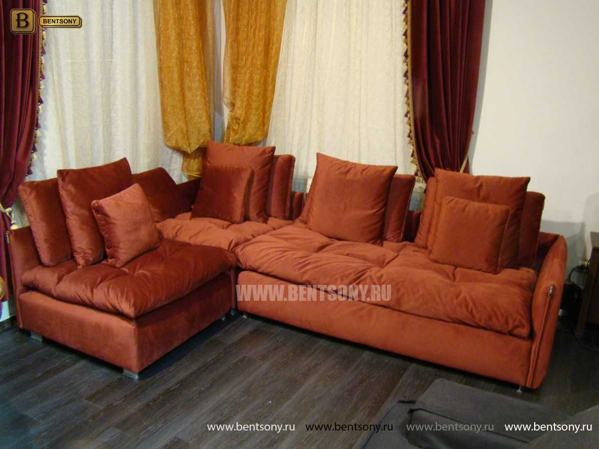 модульный диван Арлетто велюр с подушками