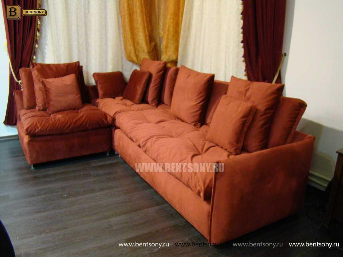 мягкий угловой диван для гостинной Арлетто